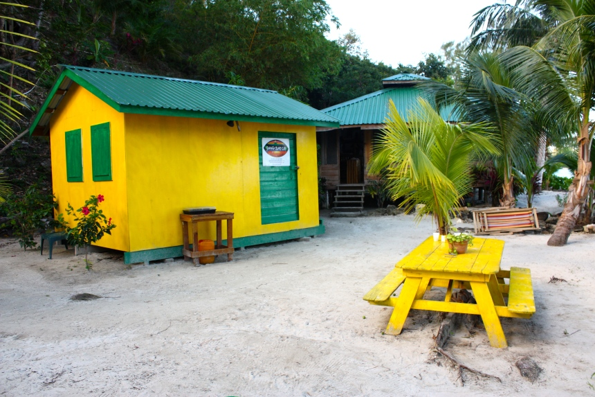 Dive Shack and Bar/ restaurant - Guanaja Island Club aka The End of The World resort