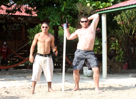 Nils--You ruled Utila Town--You are now a Utilian Legend...is that Eeemileeeo next to you? The Posing Roxbury Boys