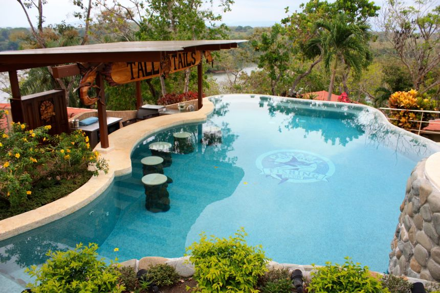 The Pool With Swim Up Bar With Big Screen TV At Panama Big Game Fishing Club